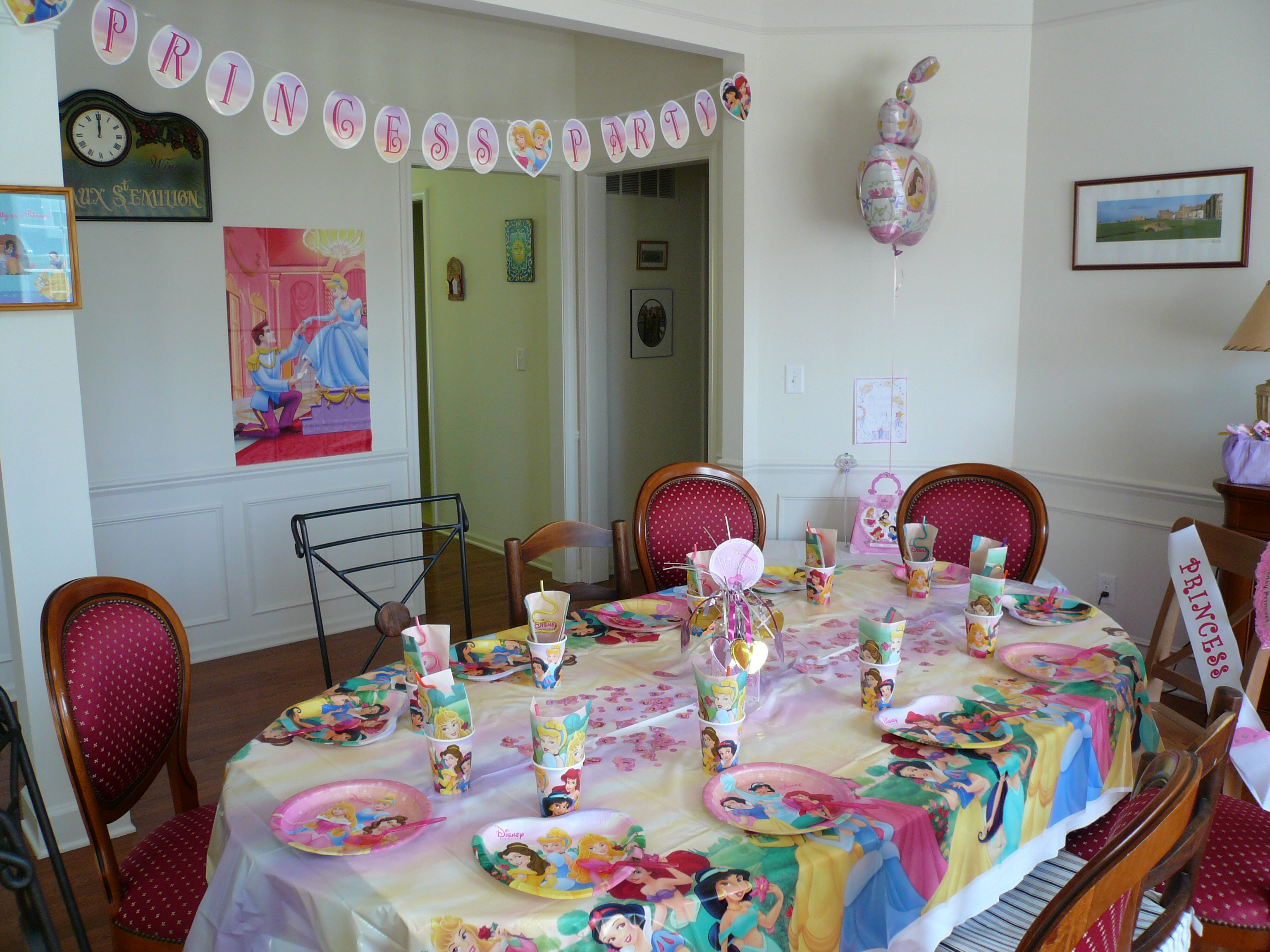 A Princess dress-up tea party!